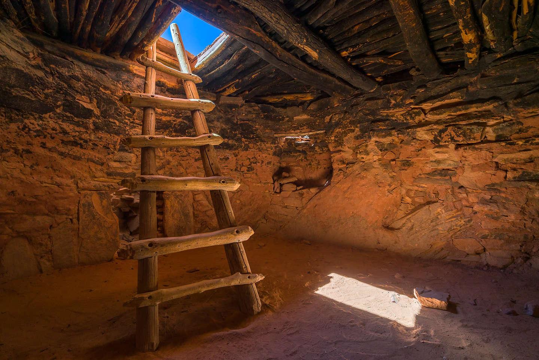 Inside the Defiance House kiva