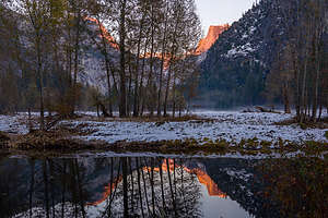 Herb capturing alpenglow reflections