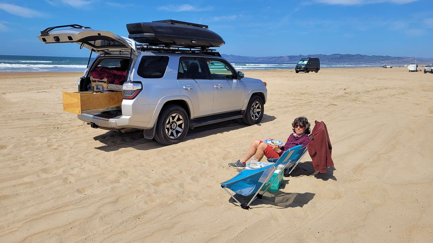Our camping machine on Pismo Beach
