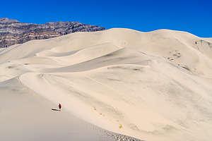 Ascending the Eureka Dunes