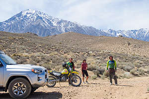 Off-roading on the Bishop trails