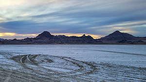 Evening at the Bonneville Salt Flats