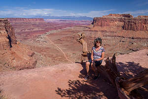 Just before the Shafer Trail Switchbacks
