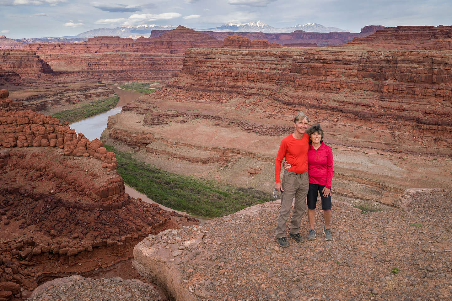 Camping at Thelma and Louise Point on the Potash Road, Moab