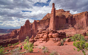 The hike back along the Fisher Towers trail