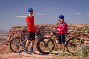 Mountain Biking the single-track trails at Dead Horse Point State Park