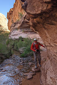 Along the Grandstaff Trail to the Morning Glory Natural Bridge