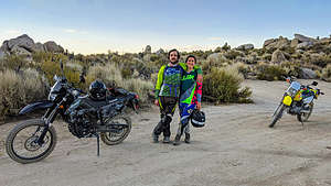 Andrew and Celeste along the Buttermilk Loop