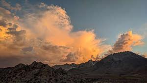 Sunset over Mt. Tom