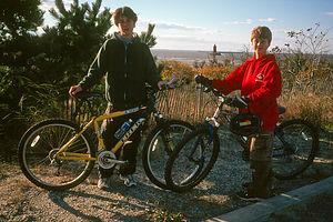 Boys with bikes