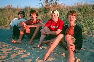 Gaidus & Bleakley boys on beach