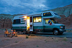 Parents with Lazy Daze in Goblin Valley Campground - AJG