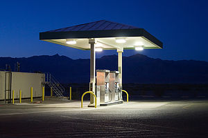 Stovepipe Wells gas pumps - AJG