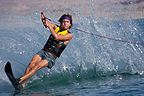 Andrew waterskiing Lake Mead - TJG