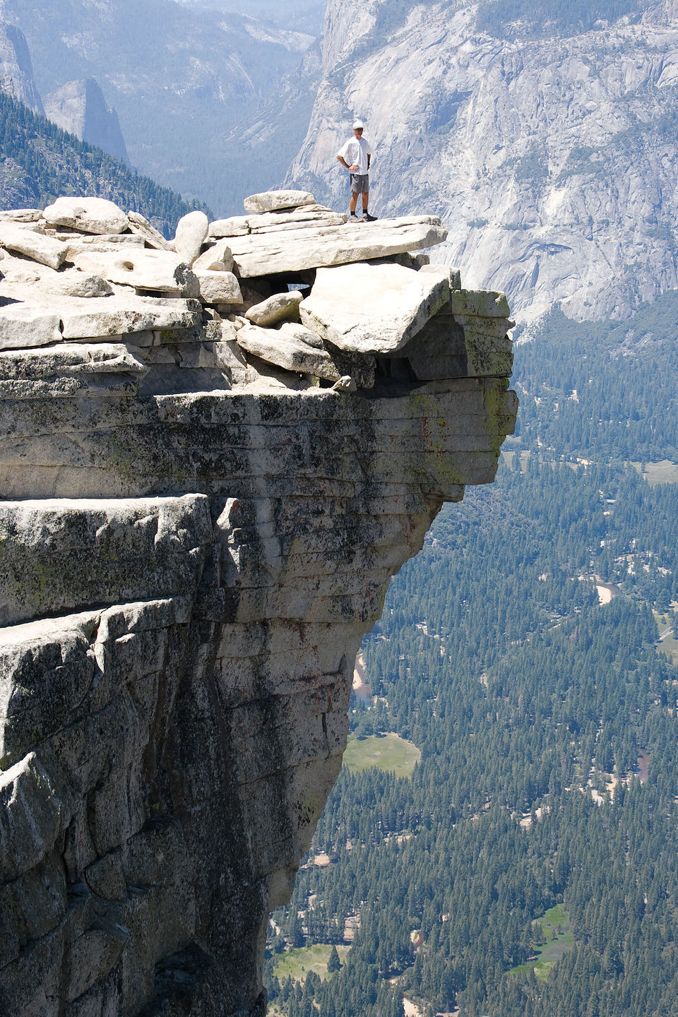 Dad On Half Dome Ledge Tjg Lolo S Extreme Cross