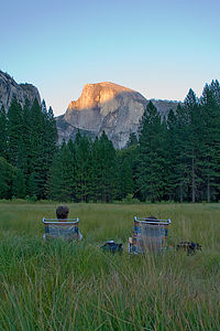Mom and Dad at Ahwahnee Meadow - AJG