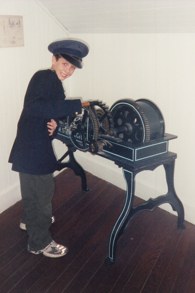 Andrew as lighthouse keeper