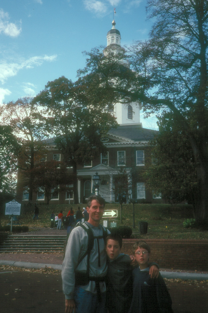 Herb and boys at Annapolis