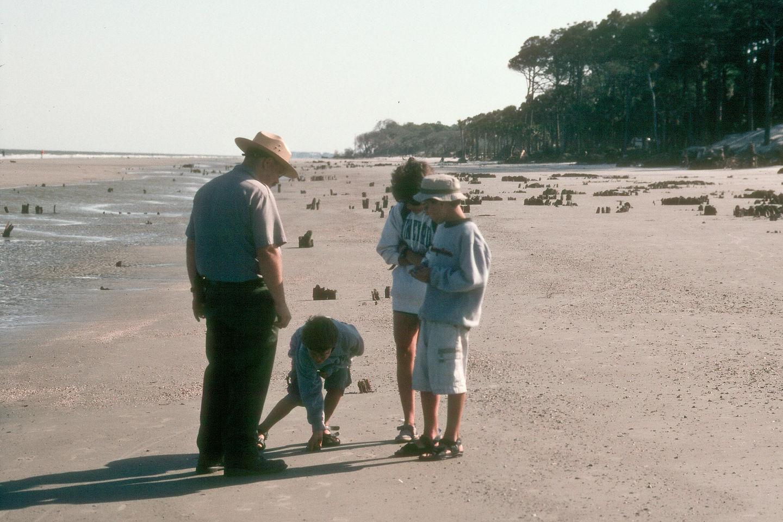 Ranger tour on beach