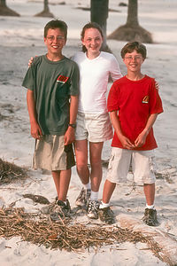 Andrew, Whitney and Tom on beach