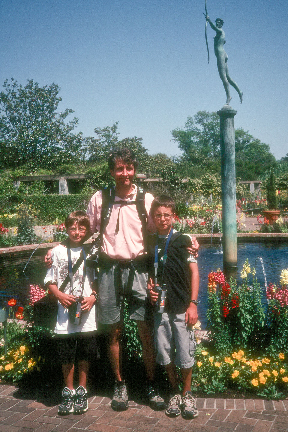 Herb and boys at Brookgreen Gardens