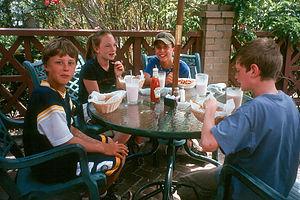 Kids dining in Beaufort