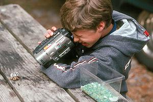 Tom videotaping hermit crab