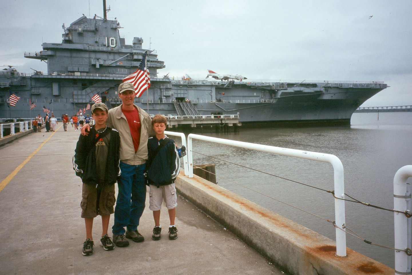Herb and boys at Patriots Point